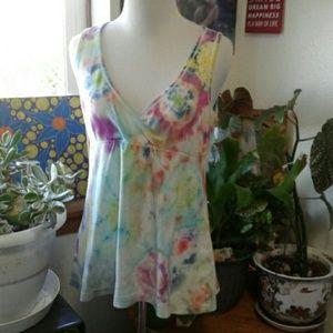 Large Tie Dye Victoria's Secret Baby doll T